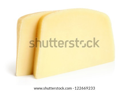 Cream cheese on a white background