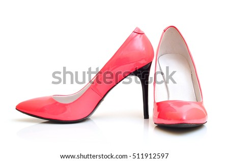 Pink Blue Yellow Colorful High Heels Stock Photo 96609115