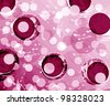 Creativity and imaginative pink painted background - stock photo