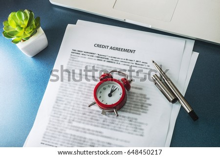 Credit Agreement Stock Photo   Shutterstock