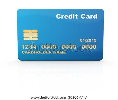 Credit card , This is a computer generated and 3d rendered picture.
