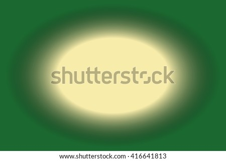 creme colored hole with a dark green frame