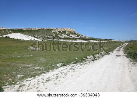 Crimea, a mountain is the White cliff
