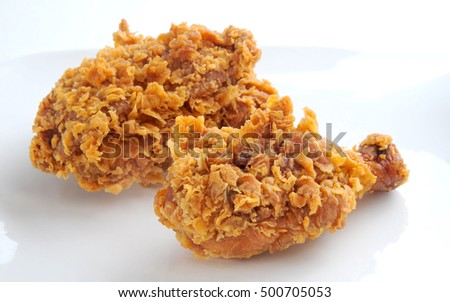Crispy fried chicken broast