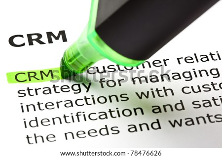 CRM - Customer relationship management, highlighted with green marker.
