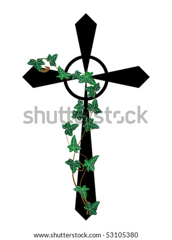 Luxury Diamond Cross On Black Background Stock Vector