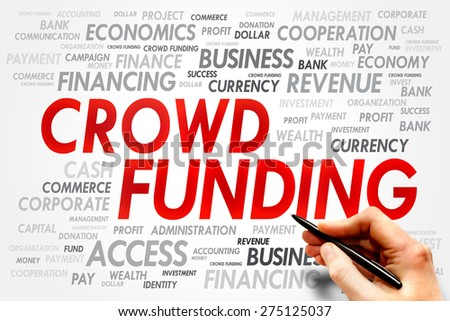 CROWD FUNDING word cloud, business concept