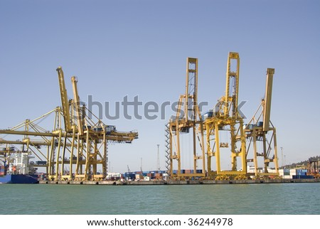 Crranes at Barcelona Port