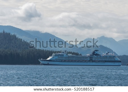 Cruise ship in Icy Strait Point, Alaska.     July 19, 2016