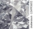 crystal facet background - stock photo