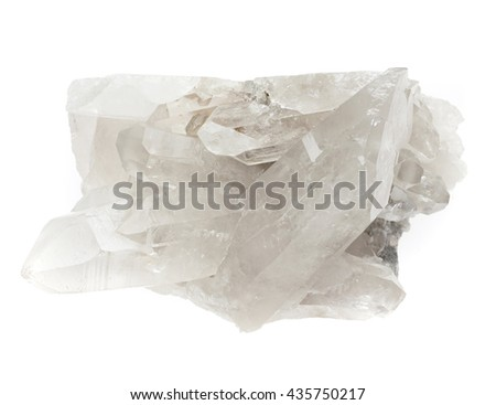Crystal mineral sample of a gemstone with quartz