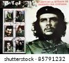 CUBA - CIRCA 2002: A stamp printed in cuba commemorating the 35th anniversary of the death of Ernesto Che Guevara, circa 2002 - stock photo