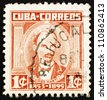 CUBA - CIRCA 1961: a stamp printed in the Cuba shows Jose Marti, Poet, Journalist, Political Theorist, Revolutionary, Hero of the War of Independence, circa 1961 - stock