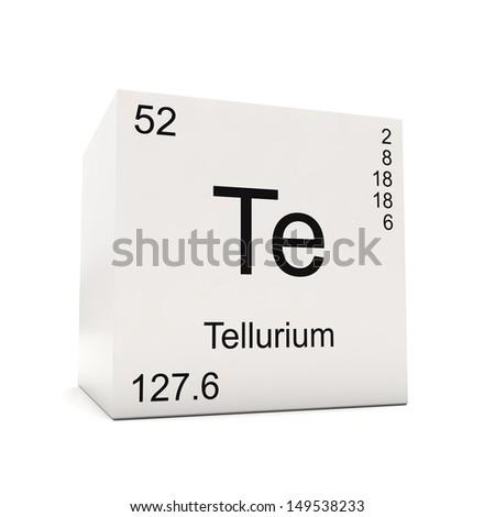 Tellurium Element Periodic Table Cube of tellurium element of.
