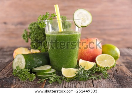 cucumber and parsley juice