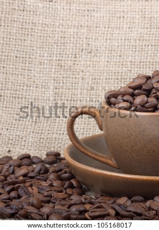 Cup of coffee. Shot in a studio