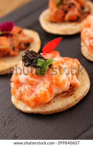 Fig parma stock photo 216925645 shutterstock for Smoked trout canape
