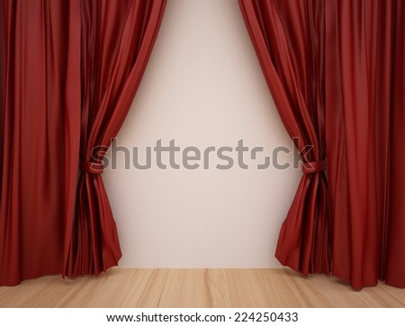 Curtains Ideas curtains background : Luxurious Red Curtains Background Template Grand Stock Photo ...