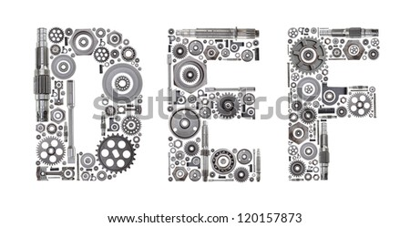 Custom metal block letters made out stock photo 120157897 for Custom block letters