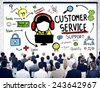 Customer Service Support Assistance Service Help Guide Concept - stock