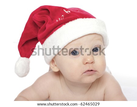 cute baby in santa outfit
