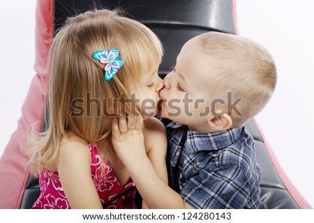 Two Girls Passionately Kissing
