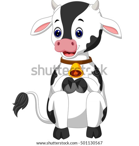 Cute Cartoon Baby Cow