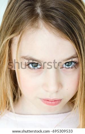 close 10 year old girl big stock photo 34094590  shutterstock