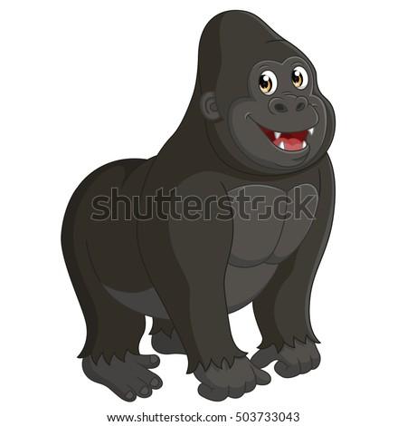 Gorilla Stock Vector 33334165 - Shutterstock