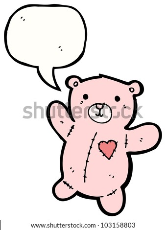 cute pink teddy bear cartoon