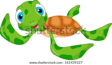 Cute animated sea turtles - photo#10