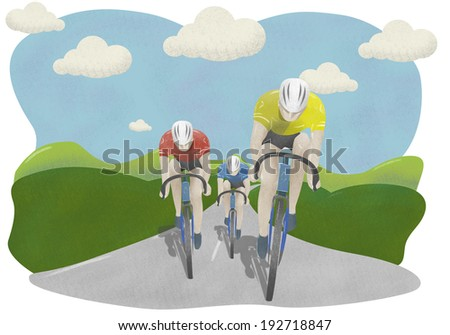 Cycle race in countryside