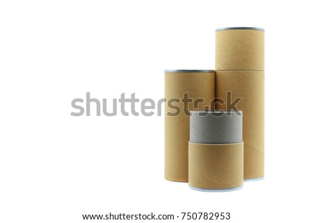 Opened kraft paper tube tin can stock illustration for Kraft paper craft tubes