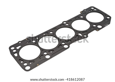 Cylinder head gasket on a white background