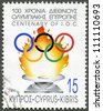 CYPRUS - CIRCA 1994: A stamp printed in Cyprus shows Centenary of the International Olympic Committee, circa 1994 - stock photo
