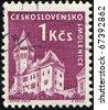 CZECHOSLOVAKIA - CIRCA 1958: A stamp printed in Czechoslovakia shows village of Smolenice (in present day Slovakia), series, circa 1958 - stock photo