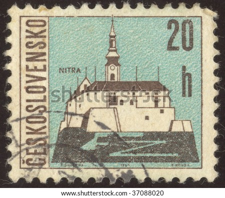 CZECHOSLOVAKIA - CIRCA 1965:  Nitra is a city in western Slovakia, situated at the foot of Zobor Mountain in the valley of the river Nitra, circa 1965