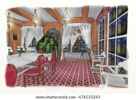 dacha architectural drawing