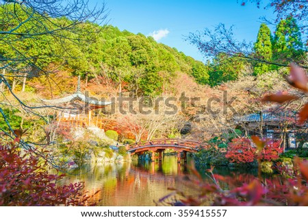 Daigo-ji temple  in autumn, Kyoto, Japan
