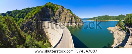 Dam lake Vidraru in Romania