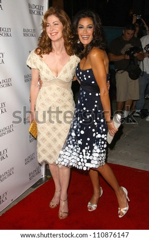 Dana Delany and Teri Hatcher at a party to celebrate Badgley Mischka's New Campaign Featuring Teri Hatcher. One Sunset Restaurant, West Hollywood, CA. 08-27-07