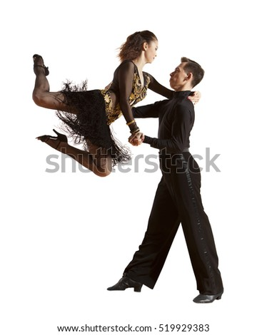 Dance beautiful couple dancing ballroom dancing