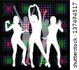 dancing girls . Raster - stock photo