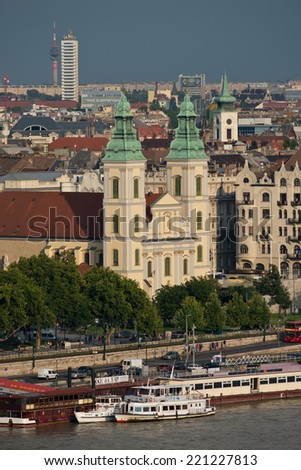 Danube riverside in the historical center of Budapest. Since 1987 is an Unesco world heritage Site.