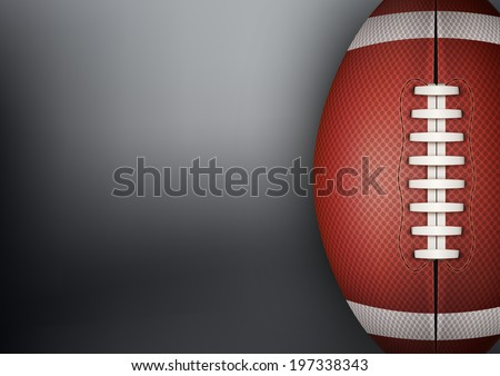 Dark Background of American Football sports with space for text. Theme of list and schedule of players and statistics. Bitmap copy.