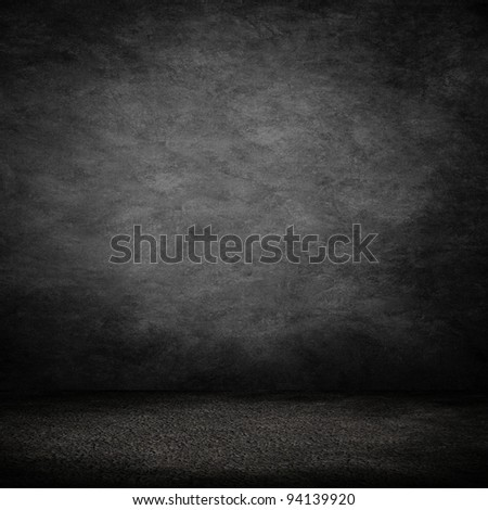 dark interior room