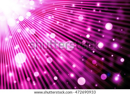 Dark purple glitter sparkles rays lights bokeh festive elegant abstract background.