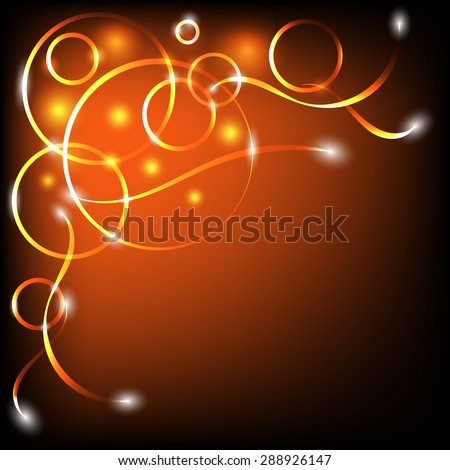 Dark red background with golden circles and lines.