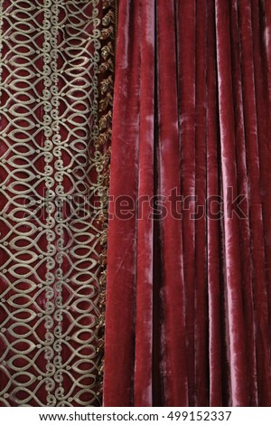 Side Door Window Curtains Navy Velvet Curtains