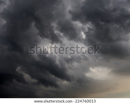 Dark storm clouds before rain.